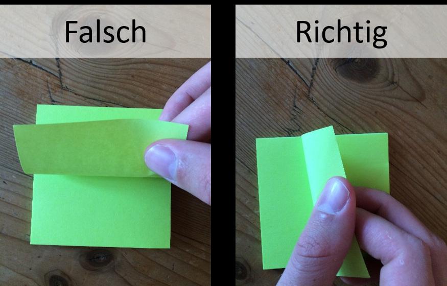 Post-its richtig abziehen - Der Flipchart-Coach
