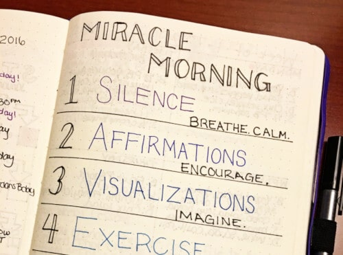 Miracle Morning Notebook