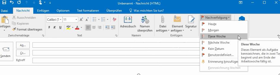 Zeitmanagement mit Outlook Screenshot 1
