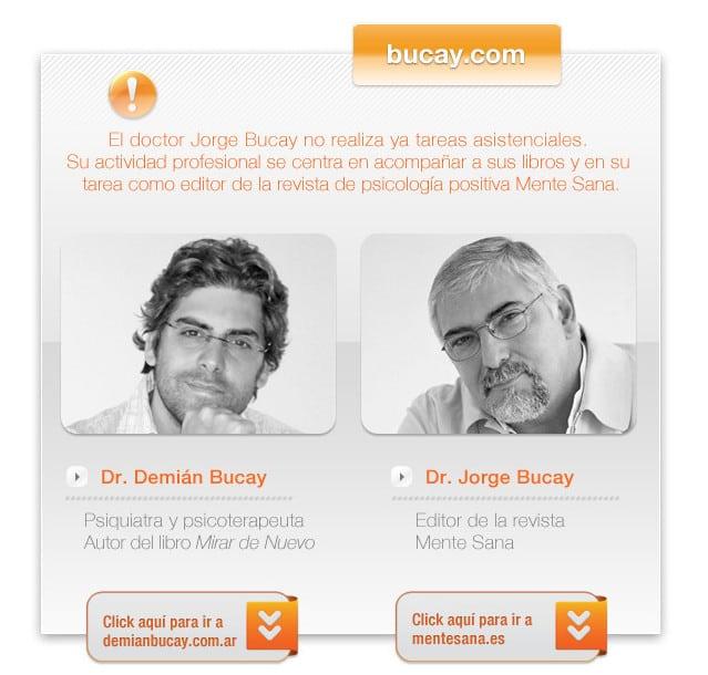 Bucay - Mitteilung auf seine Praxis-Website