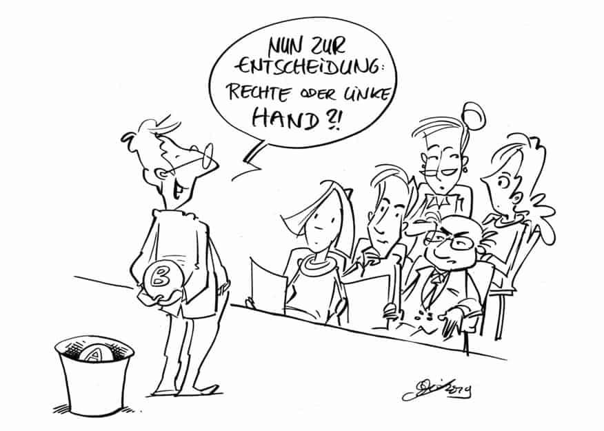Führung_Karikatur_Wirksame Change-Impulse