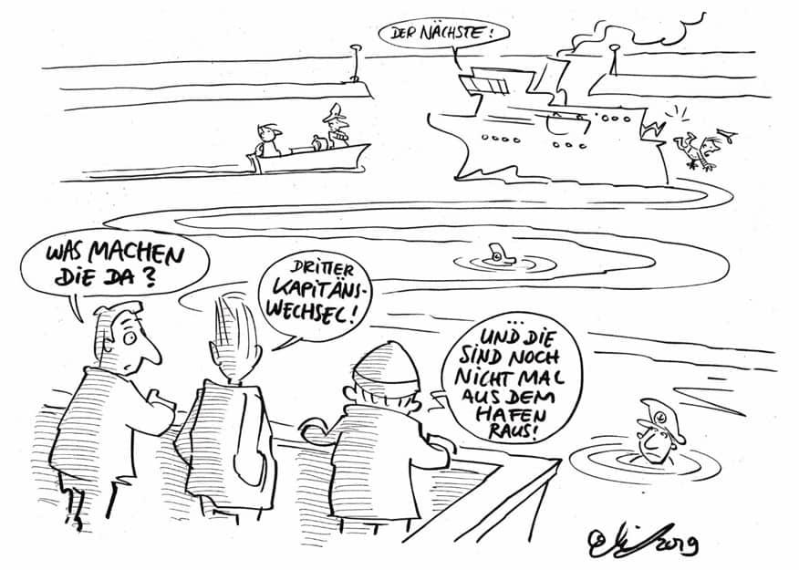 Strategie und Einbindung_Karikatur_Wirksame Change-Impulse